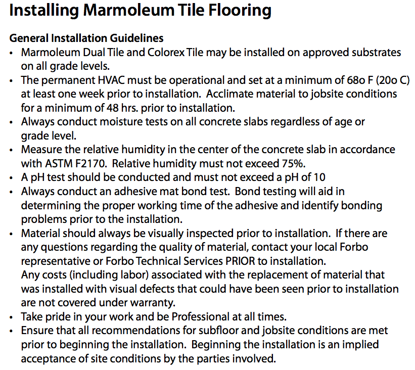 Bathroom Tile Flooring Marmoleum General Guidelines a