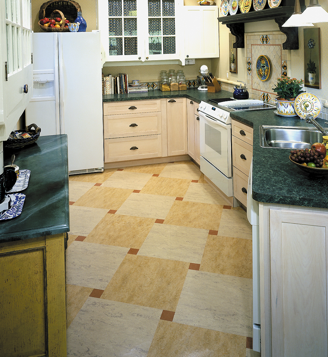 Marmoleum kitchen floor floor matttroy for Cool kitchen floor ideas